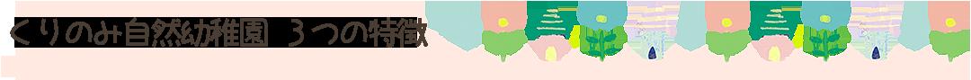 くりのみ自然幼稚園の3つの特徴