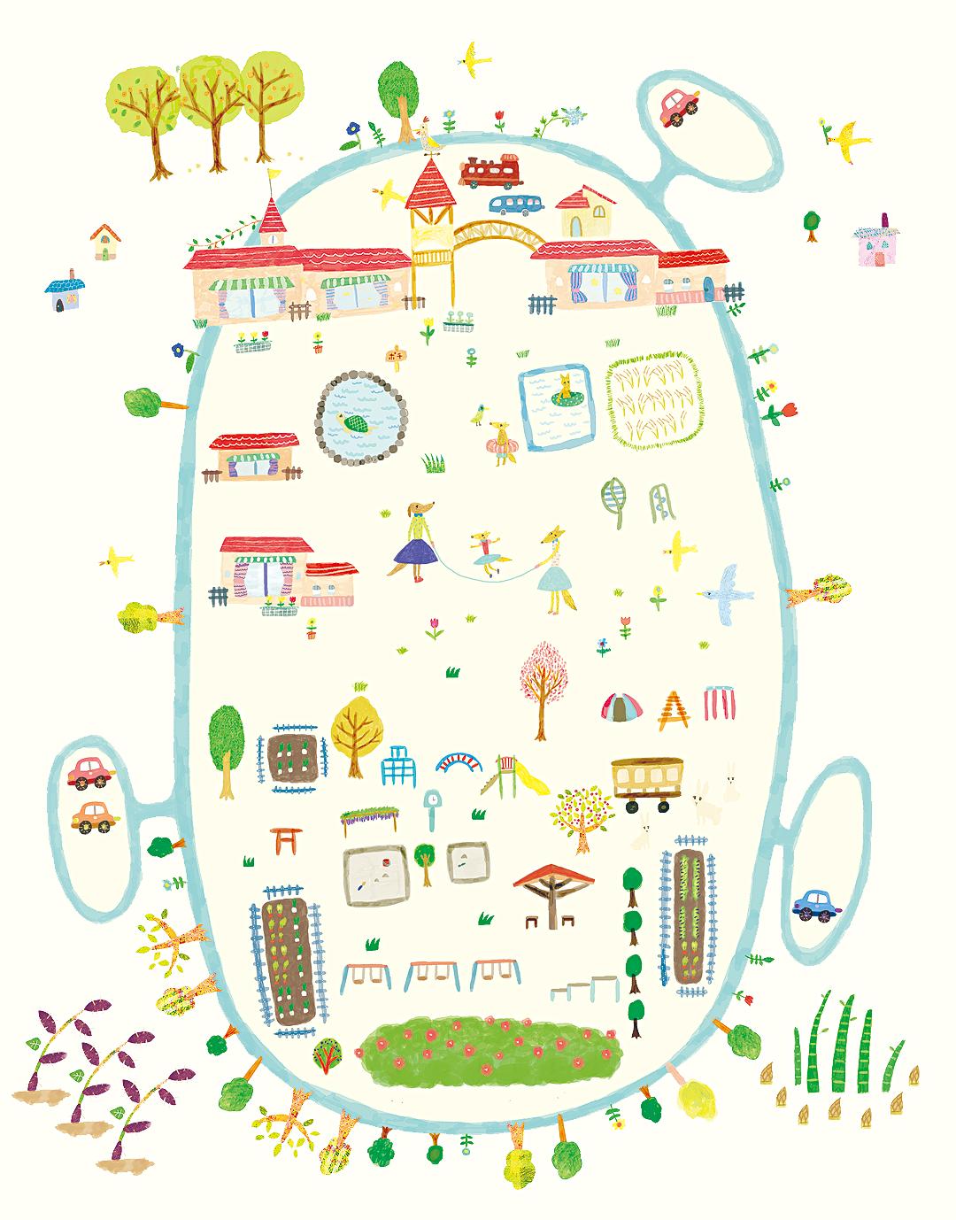 くりのみ自然幼稚園 園内マップ